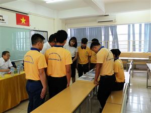 xay-dung-Thang Long OSC's trainee took an exam for construction order working in Japan 2